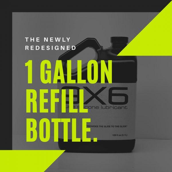 1 Gallon (3.79L) 9X6 Pure Silicone Lubricant Lube (+Comp 8.5oz Bottle)