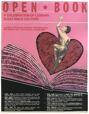 "Rare - OPEN BOOK 1985 - A Celebration of Lesbian & Gay Male Culture - Print 23 x 17.5"""
