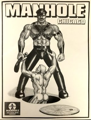 "Vintage - The HUN - MANHOLE CHICAGO - Print 22x17"" 1991"