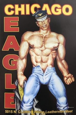 """CHICAGO EAGLE - by Etienne - Rare Print 24 x 16"""""""