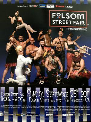 "FOLSOM STREET FAIR Poster - 2011 - Rare Print 24 x 18"""