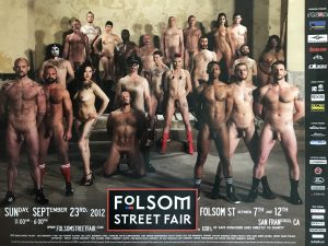 """Rare - FOLSOM STREET FAIR 2012 - NUDE - Print 24 x 18"""""""