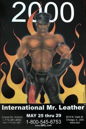 "IML - International Mr.Leather 2000 - by Ponyboy - Rare Print Poster 24x15.5"""